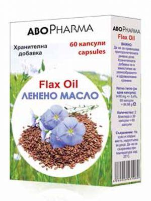 АБОФАРМА Ленено масло 1000мг/ABOPHARMA Flax Oil 1000mg*60caps.