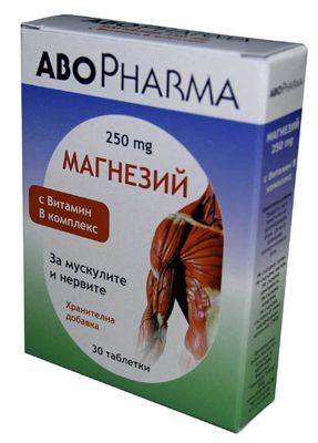 АБО Магнезий+Б комплекс/ABO Magnesium+B complex 30tabl.