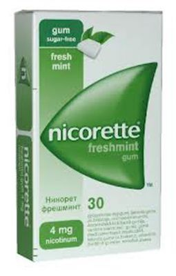 Никорет дъвки/Nicorette mint 4mg * 30