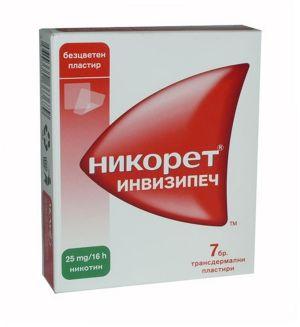 Никорет пластири/Nicorette 25mg * 7