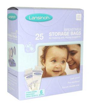 Лансинох пликчета за съхранение на кърма/Lansinoh breastmilk storage bags 25