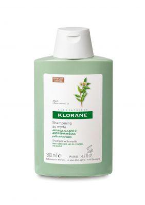 Клоран шампоан с мирта/Klorane shampooing au Myrte 200ml