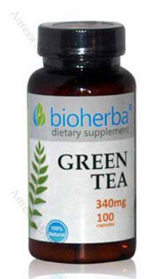 Биохерба Зелен чай/Bioherba Green Tea 340mg * 100caps.