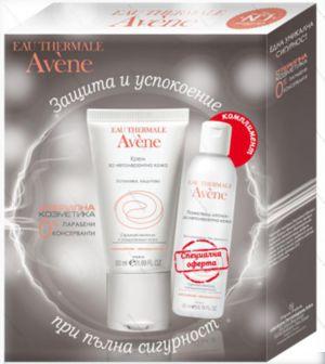 Промо Авен Обогатен крем за нетолерантна кожа D.E.F.I. + Авен лосион за почистване/Avene Skin recovery cream rich 50ml + Lotion 50ml