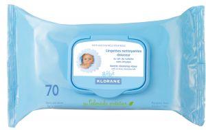 Клоран почистващи кърпички/Klorane cleansing wipes 70wipes