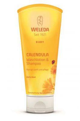 Веледа Душ гел/шампоан за коса и тяло/Weleda Calendula Waschlotion & Shampoo 200ml