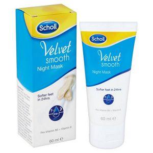 Scholl Velvet крем маска нощен за крака 60мл