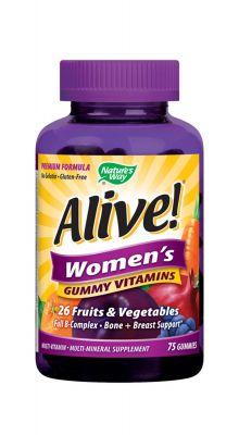 Алайф желирани мултивитамини за жени/Alive women's gummy vitamins 131mg 75tabl