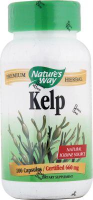 Келп (кафяви водорасли)/Nature's Way Kelp 660mg * 100caps. 180caps.
