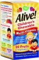 Алайв дъвчащи мултивитамини за деца/Alive children multi-vitamin 120